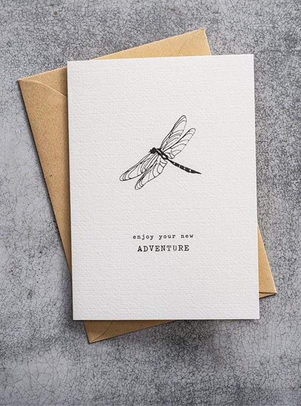 a beautiful story Stationery Dragonfly - postcard