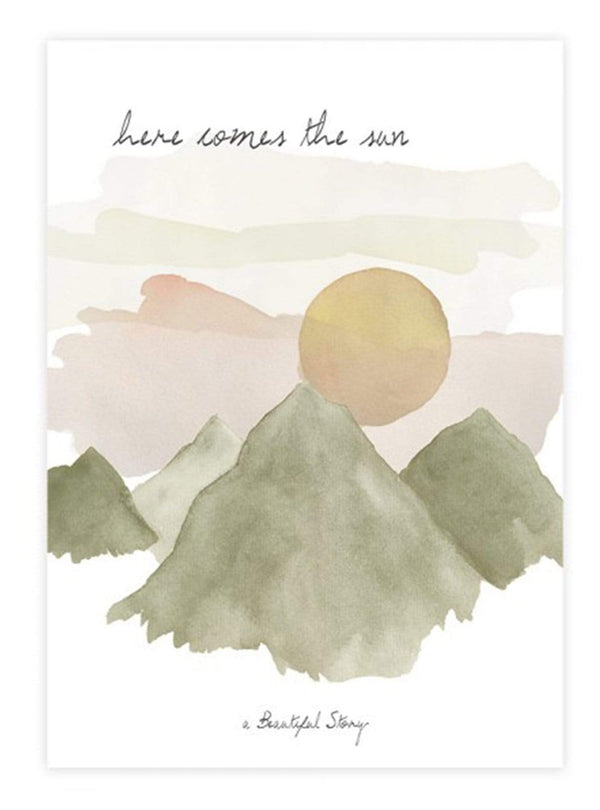 a beautiful story Stationery Greeting card sun