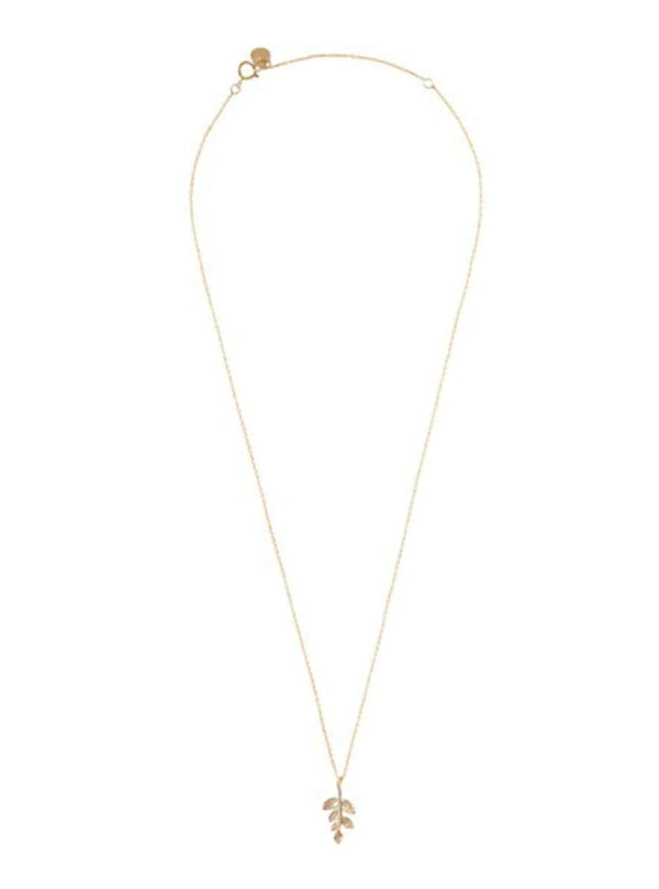 Delicate branch - sterling silver gold-plated necklace