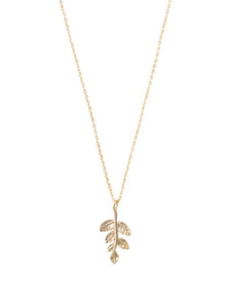 a beautiful story Womens jewellery Delicate branch sterling silver gold-plated necklace