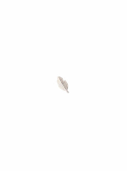 a beautiful story Womens jewellery Feather stud - sterling silver earring - 1 piece
