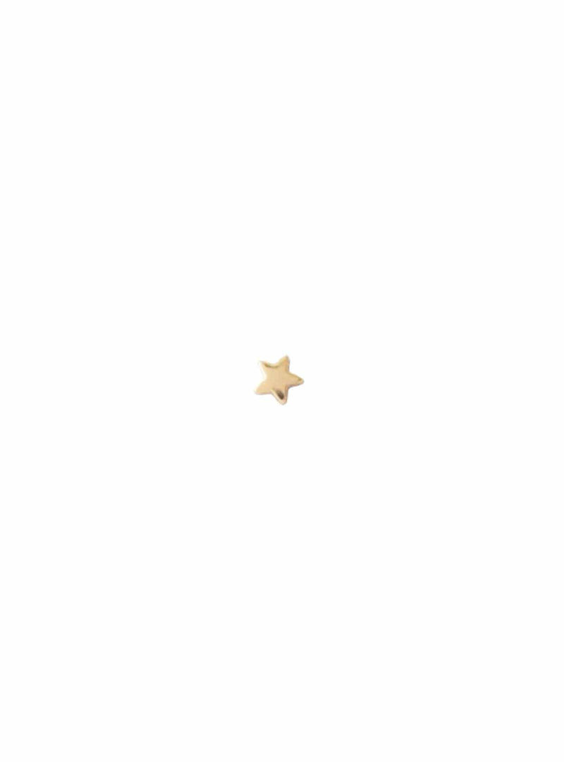 Star stud - sterling silver gold-plated earring - 1 piece
