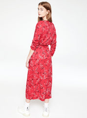 Dilaan spring ditsies - dress - tomato red
