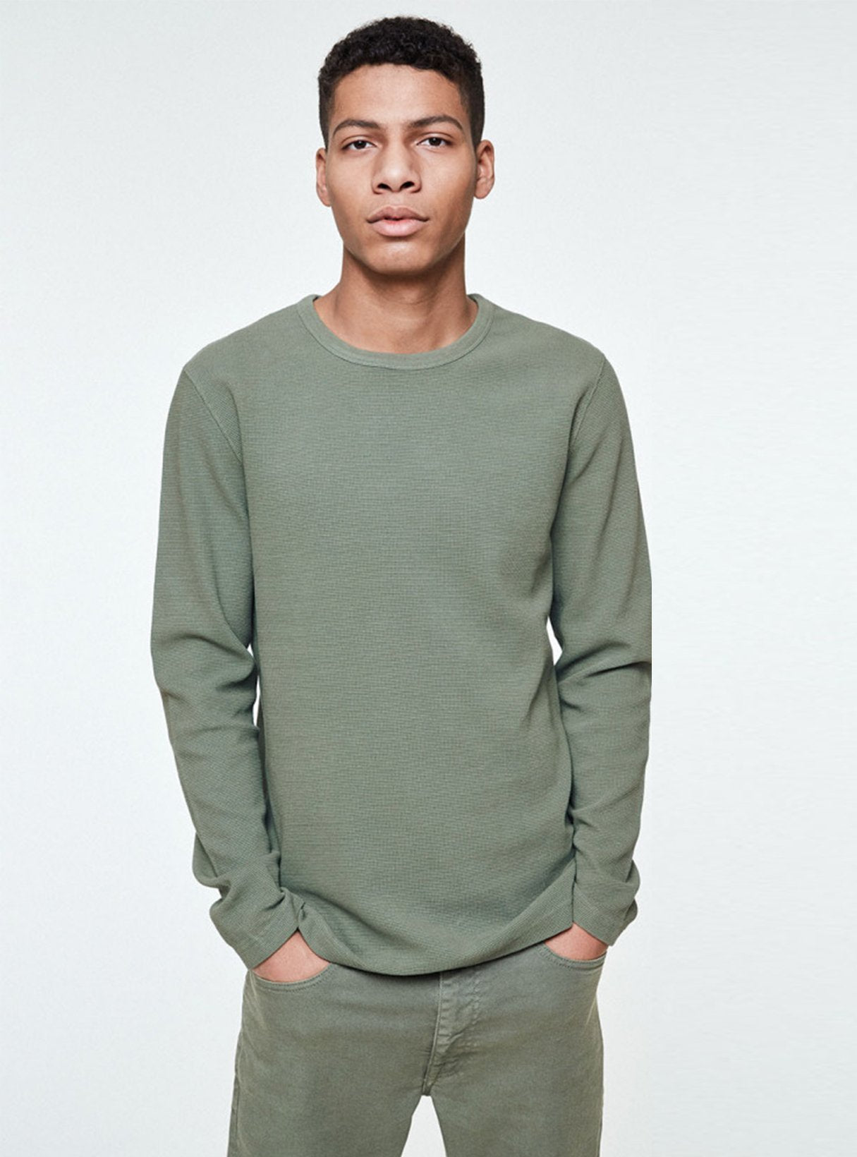 Niaam - sweater - light green olive