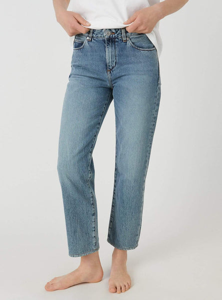 Fjellaa cropped - straight fit jeans - light vintage