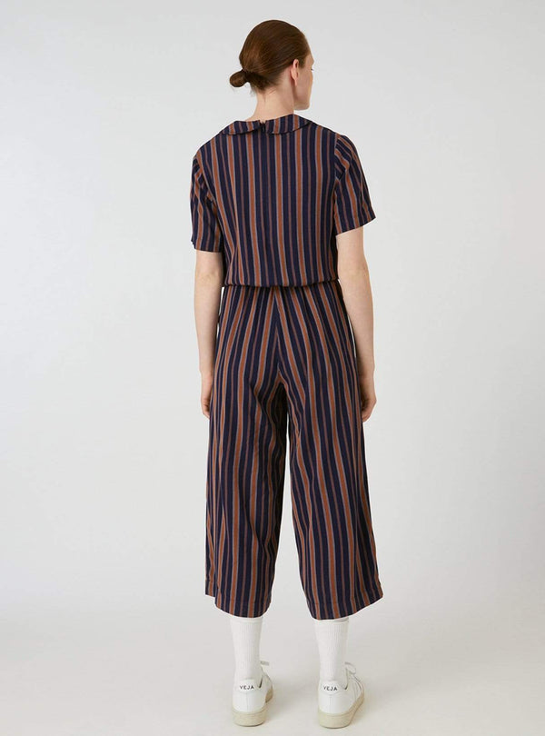 ArmedAngels jumpsuit Auraa multicol stripes - jumpsuit - evening blue/maroon