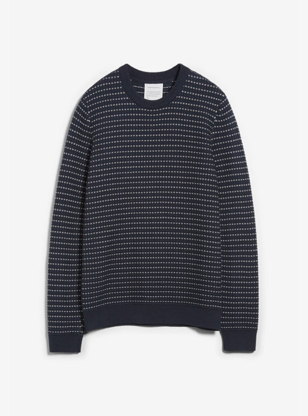 armedangels Mens sweaters Taavo - knitted sweater - depth navy