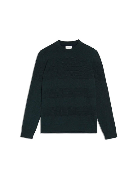 Baabel - knitted pullover - deep green melange