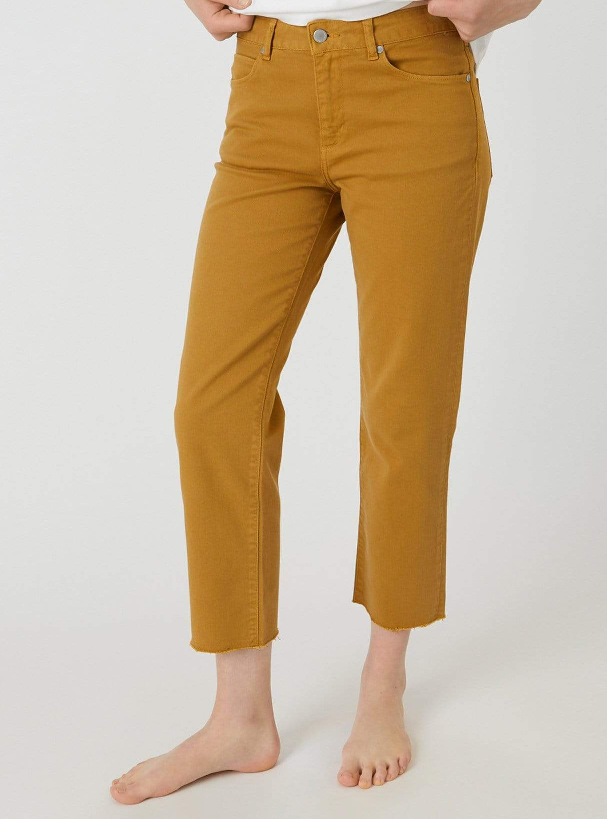 Fjellaa cropped - straight fit jeans - caramel butter