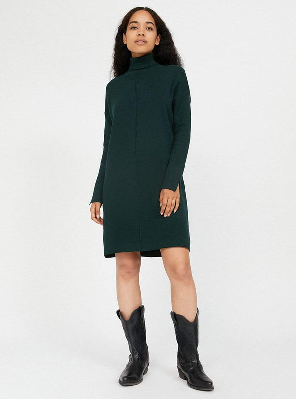 armedangels Womens dresses Siennaa - turtleneck dress - deep lake