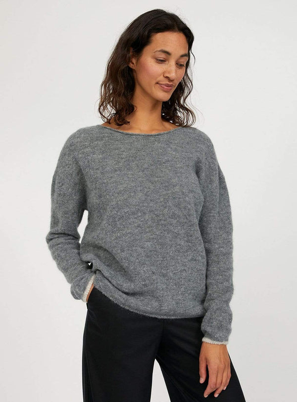 armedangels Womens sweaters Anaa - knitted sweater - frozen mid grey melange