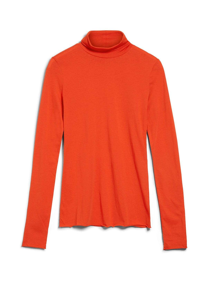 Malenaa - turtleneck - glossy orange