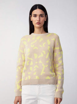 armedangels Womens sweaters Olessyaa fragments - knit pullover - kitt-lime