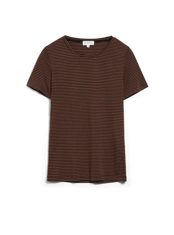 armedangels Womens tops Lidiaa ring stripes - t-shirt - black-cacao