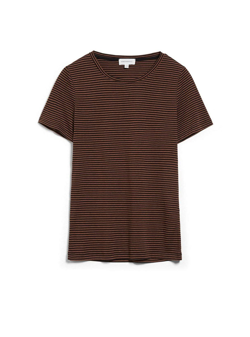 Lidiaa ring stripes - t-shirt - black-cacao