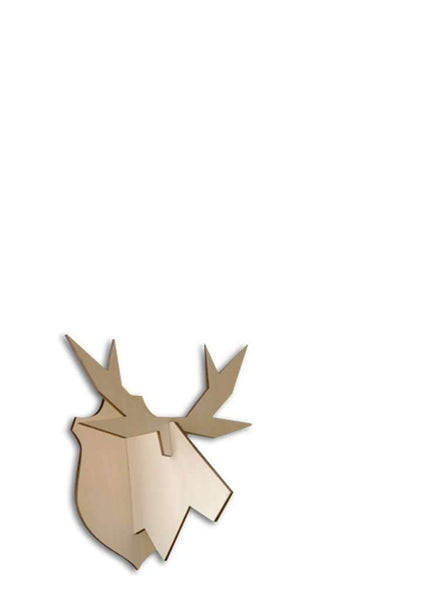 Moose S wall decoration - Wood