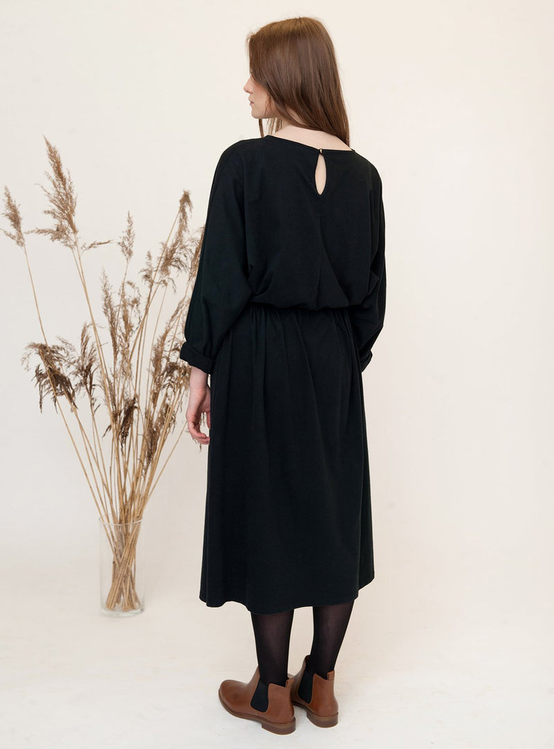 Beaumont Organic dress 34 Talita - organic cotton dress - black