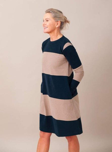 Vicky - dress - deep indigo/stone marl