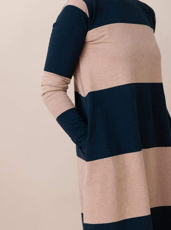 Beaumont Organic dresses Vicky - dress - deep indigo/stone marl