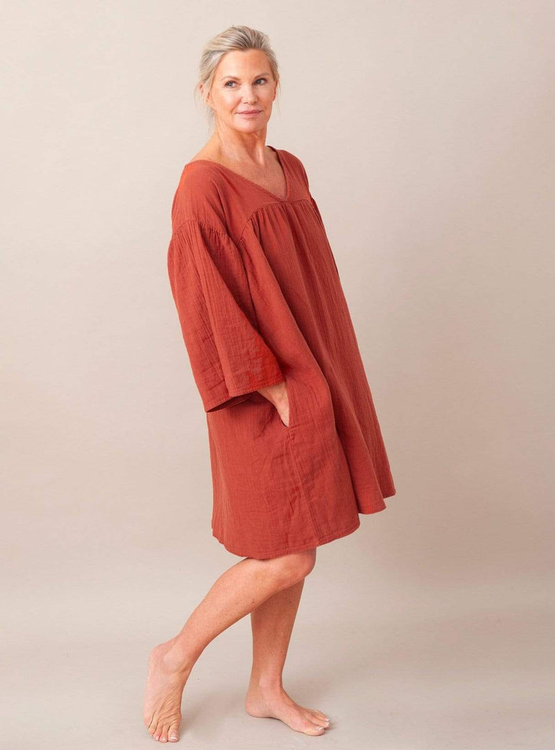 beaumont organic Womens dresses Dylla - dress - cinnamon