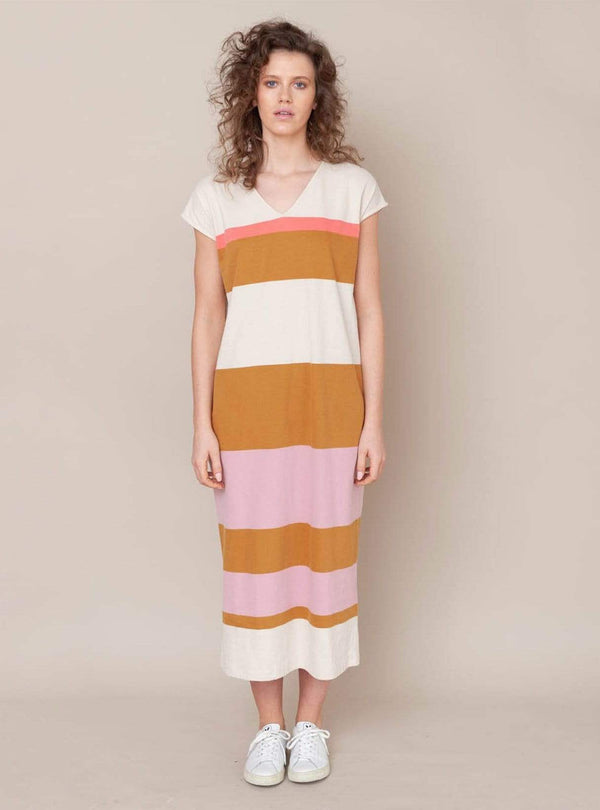 Sydney - dress - sunny bold stripe
