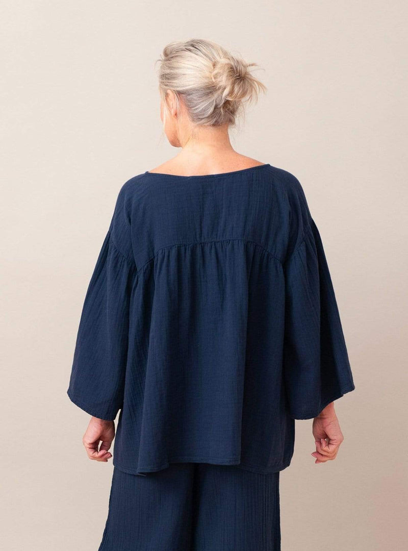 Carlotte - top - deep indigo