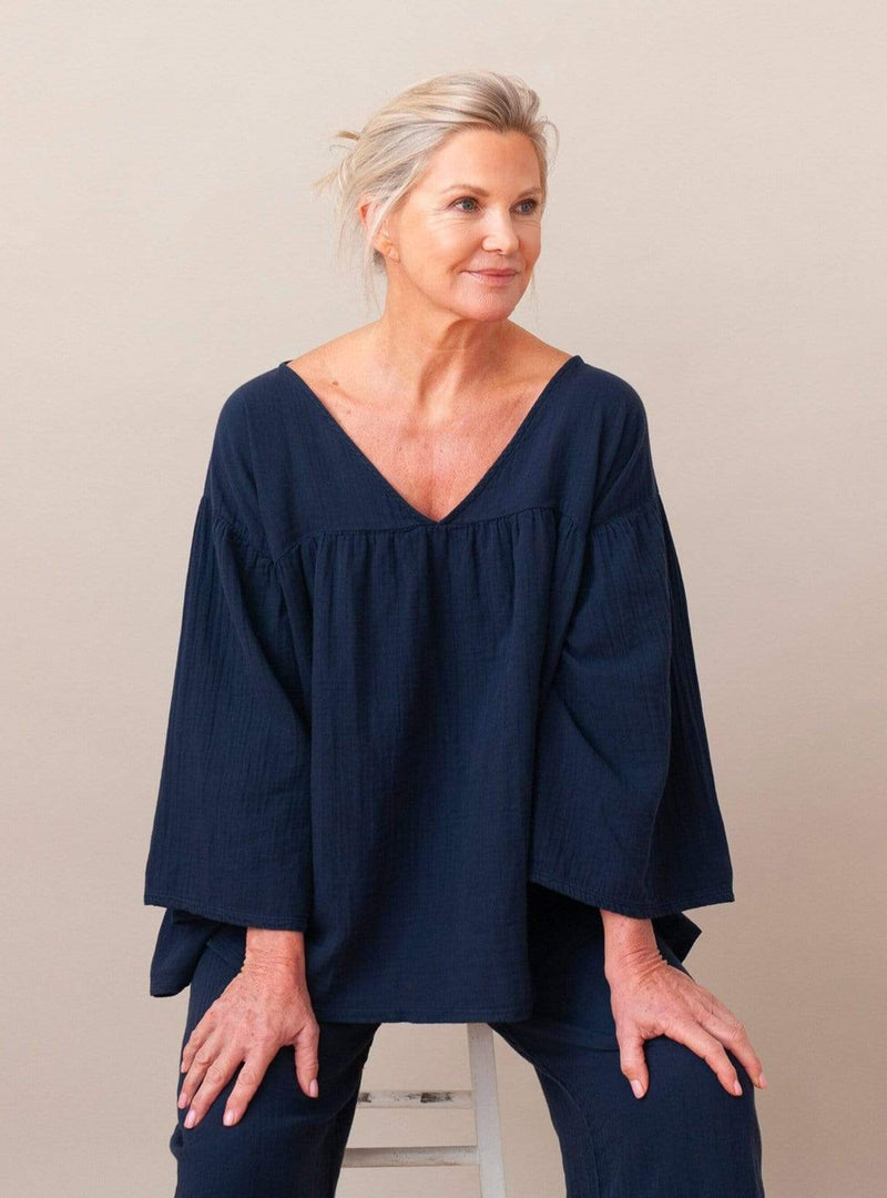 beaumont organic Womens tops Carlotte - top - deep indigo