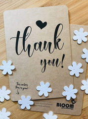 Confetti postcard - thank you