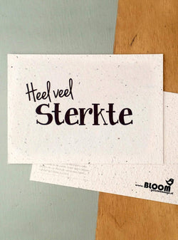Bloom your message Stationary Postcard - heel veel sterkte