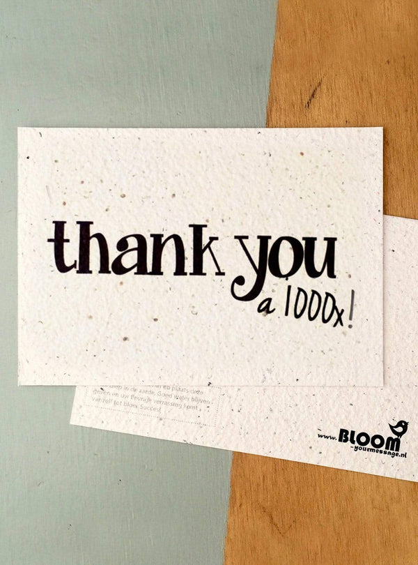 Bloom your message Stationary Postcard - thank you a 1000