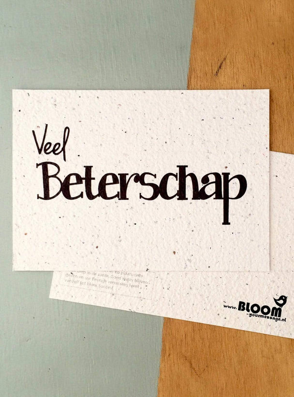 Bloom your message Stationary Postcard - veel beterschap