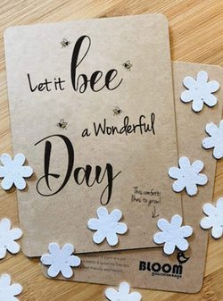bloom your message Stationery Confetti postcard - let it be a wonderful day