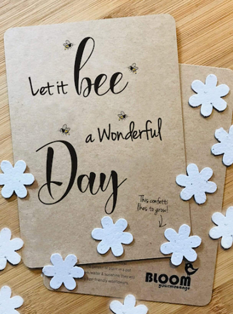 Confetti postcard - let it be a wonderful day