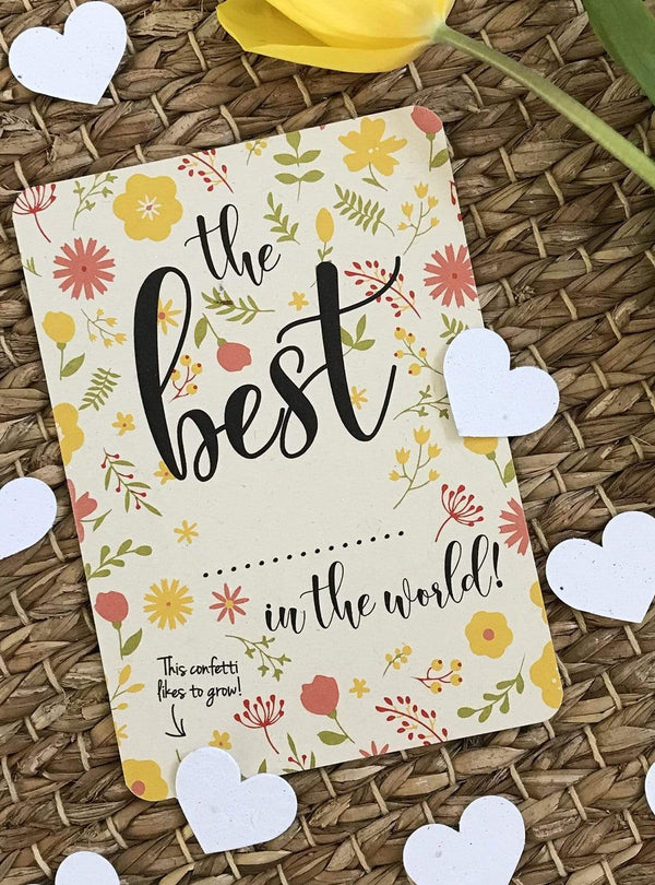 bloom your message Stationery Confetti postcard - the best in the world