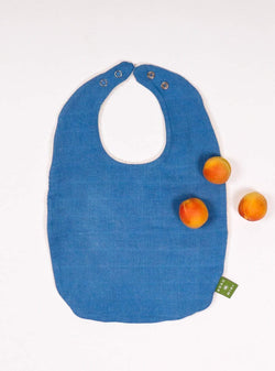 boro*mini Kids accessories Baby bib - indigo blue-uni