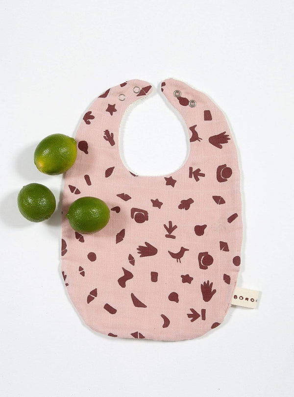boro*mini Kids accessories Baby bib - madder-print