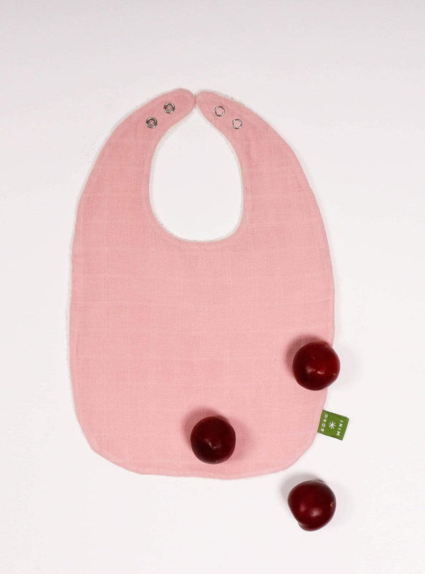 boro*mini Kids accessories Baby bib - madder-uni
