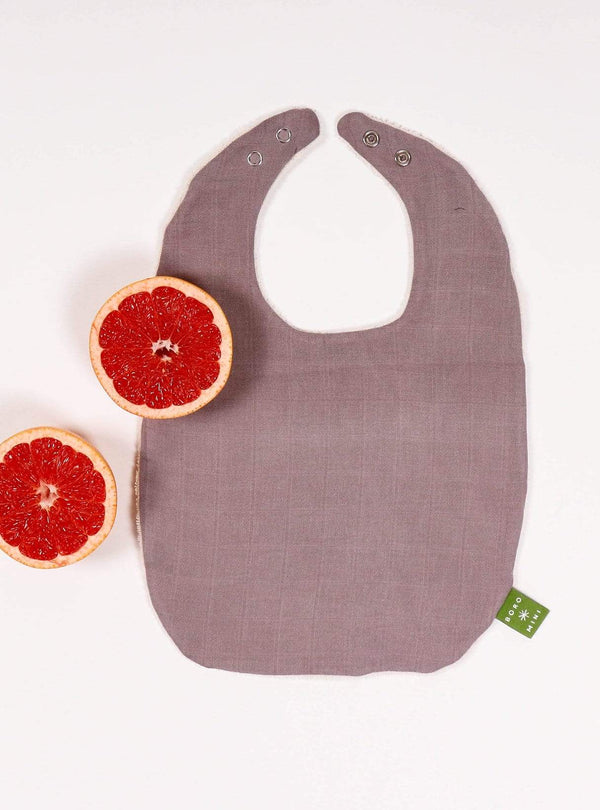 boro*mini Kids accessories Baby bib - sunny grey-uni