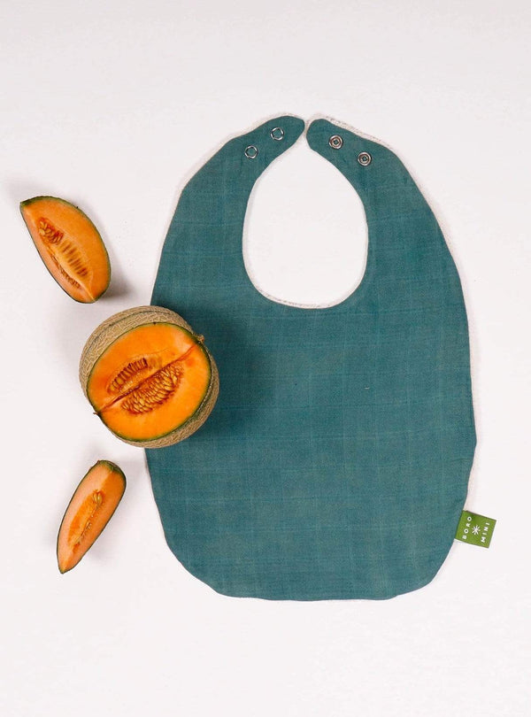 boro*mini Kids accessories Baby bib - teal green-uni