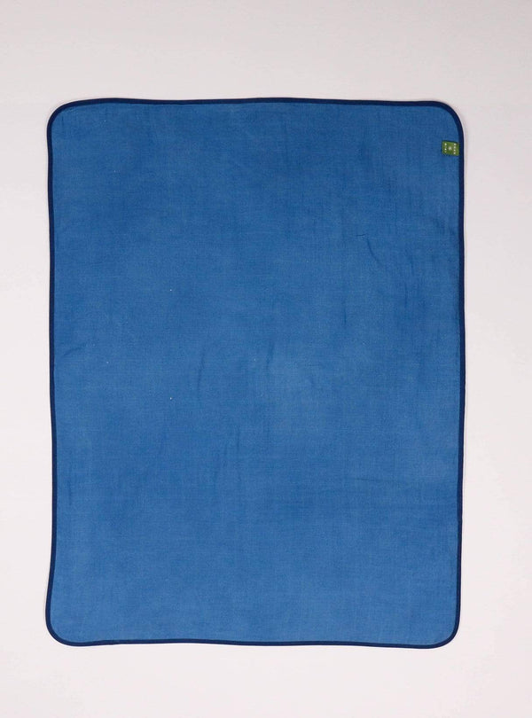 boro*mini Kids accessories Baby blanket - indigo blue-uni