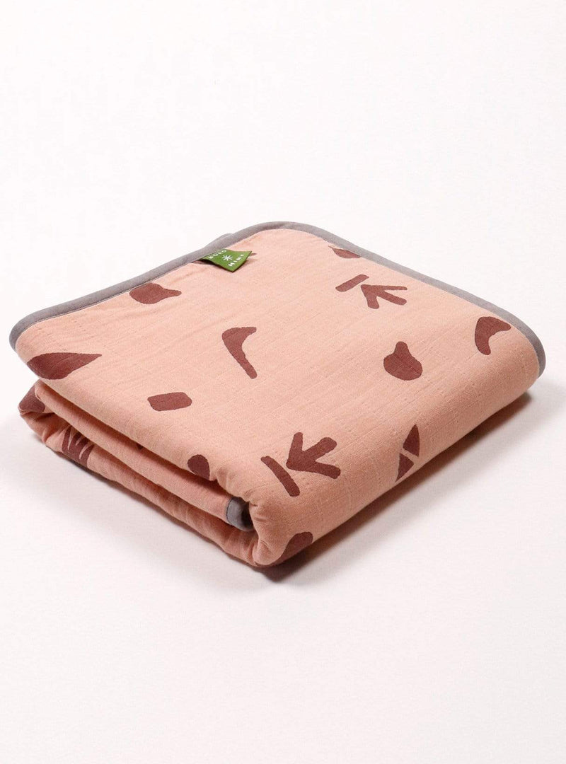 boro*mini Kids accessories Baby blanket - madder-madder-print