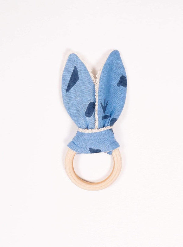 boro*mini Kids accessories Teething ring - indigo blue-indigo-print