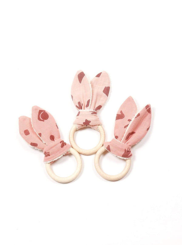 boro*mini Kids accessories Teething ring - madder pink-print