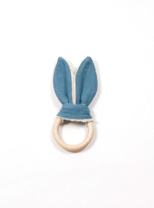boro*mini Kids accessories Teething ring - teal green