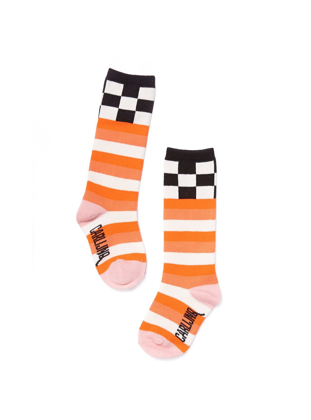 Checkers / Pink - knee socks