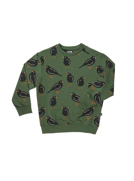 Black bird - sweater - dark green