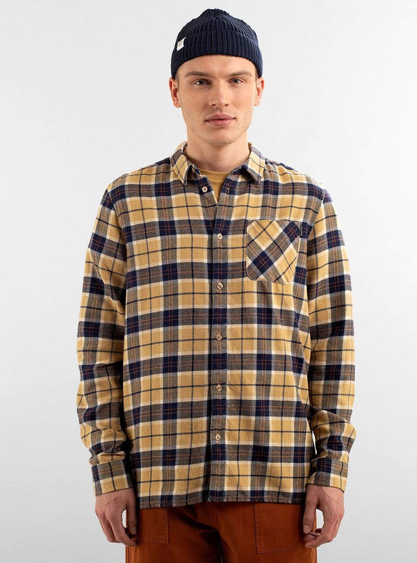 dedicated Mens shirts Shirt rute flannel - checker beige