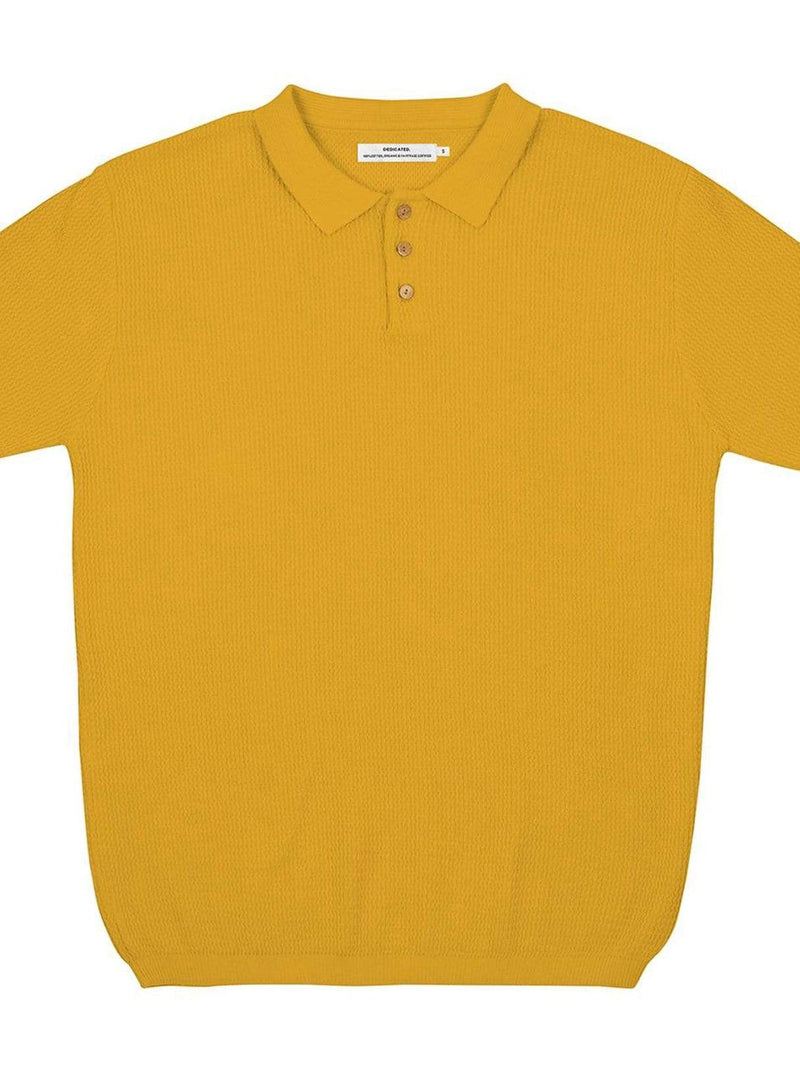 dedicated Mens sweaters Gnesta - sweater short sleeve - yellow