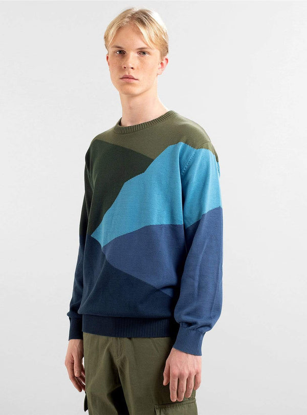 dedicated Mens sweaters Sweater mora cut mountain - blue