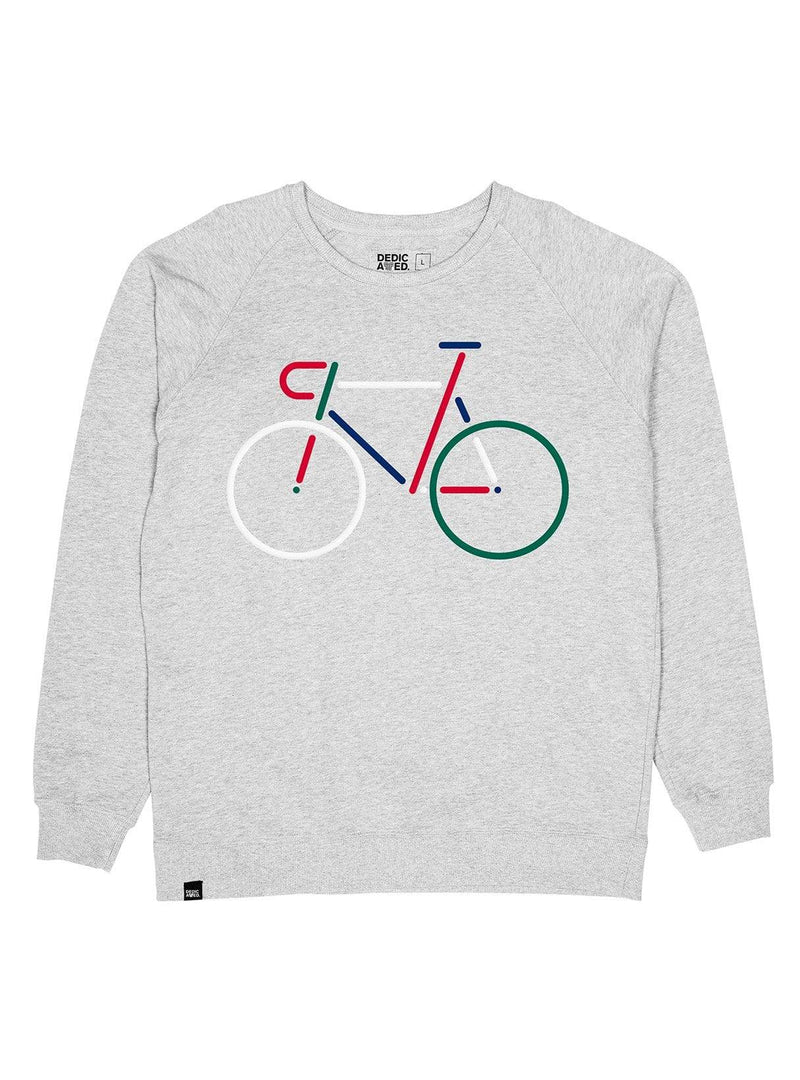Dedicated sweater Malmoe color bike - sweatshirt - grey melange